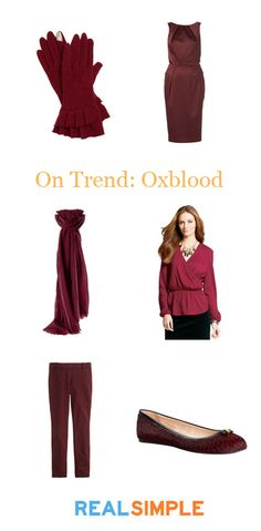 The color of the season: Oxblood.