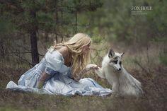 Une photographe capture des scènes de contes de fées avec de vrais animaux   Buzzly