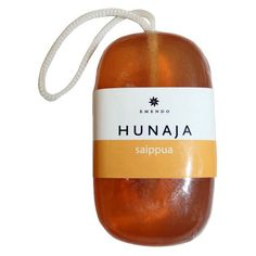 Jabón natural de miel, ideal para una ducha refrescante después de la sauna.