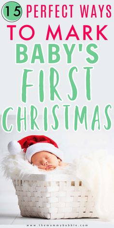 Looking for beautiful ways to remember your baby's first Christmas? Here are some lovely family traditions you can start right away in your baby's first year! Ideas for how to capture your family Christmas memories with a newborn baby #baby #familychristmas