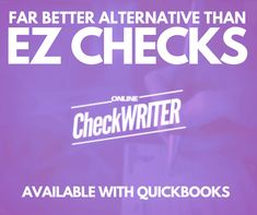 Ez checks Alternative- Access from any computer - Print personal or business checks online on demand on any printer. Integrate with Banks and Quickbooks Payroll Checks, Bank Financial, Writers Help, Writing Software, Quickbooks Online, Online Checks, Business Checks, Accounting Software, App Development Companies
