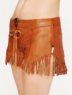 Leather Fringed Shorts. HOT!!!!!!!
