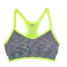 a2556abb2a0cf Women Fitness Yoga Sports Bra Stretch Workout Tank Top Seamless Racerback  Padded Free Fitness