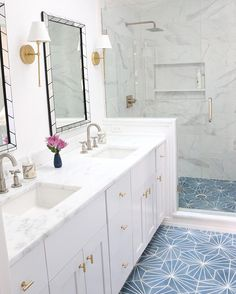 The prettiest bathroom I've seen in a while.  Not to brag. The master bath at…