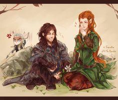 The Hobbit: He's quite tall for a dwarf. by Fiveonthe.deviantart.com on @deviantART