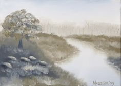 Grayscape ~ White Landscape Painting ..