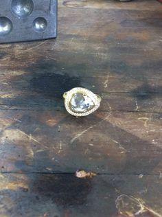 Let love rain with this beautiful rose cut drop ring by Anne Sportun Fine Jewellery Love Rain, Fine Jewelry, Jewellery, Beautiful Roses, Silver Rings, Drop, Let It Be, Jewels, Studio