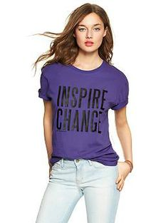 In celebration of International Women's Day, this limited edition t-shirt was created in partnership with poet Azure Antoinette, who shares Gap's commitment to celebrating and advancing women today and every day. In March, $10,000 from the sale of these t-shirts will be donated to CARE and their efforts to support women around the globe.