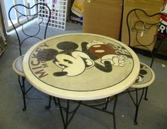 MICKEY MOUSE BISTRO TABLE & CHAIRS