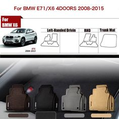 """3pcs High Quality Custom Made 1/2"""" Thickness Solid Nylon Interior Odorless Floor Carpet Mats Cover Fitted For BMW X6 E71 2008-15 #Affiliate"""
