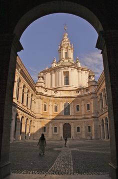 Rome's Sant'ivo alla Sapienza - notice the corkscrew cupola.