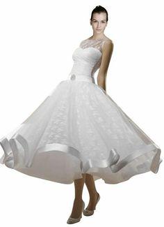 *Maillsa Lace Bateau Wedding Dress White/ivory C0087 (6, Ivory)  $90