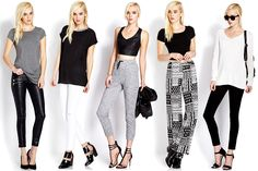 Which look is your fave? #OOTD #BlackAndWhite #Cute
