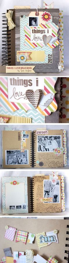 Scrapbook Ideas for Beginners | The Things I Love Scrapbook by DIY Ready at http://diyready.com/cool-scrapbook-ideas-you-should-make/