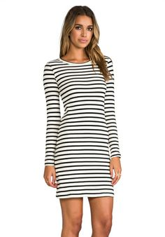 The perfect everyday dress in black and white cotton knit.