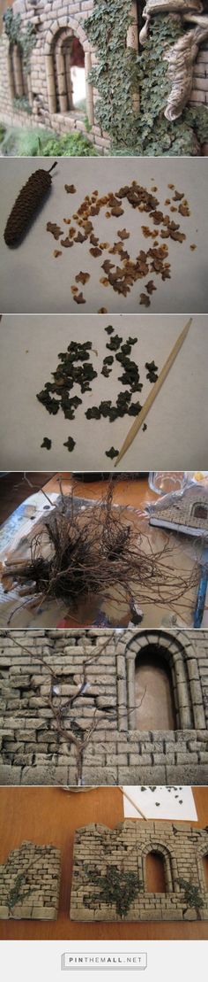 Making Convincing Ivy  looks like silver birch seeds