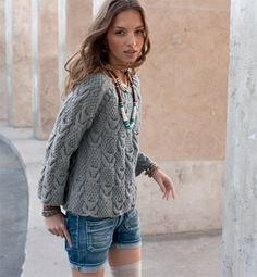 patron tricot gratuit pull femme