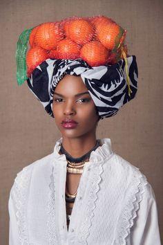 """The Head Dress"" Editorial by South African photographer Lauren Fletcher #orange"