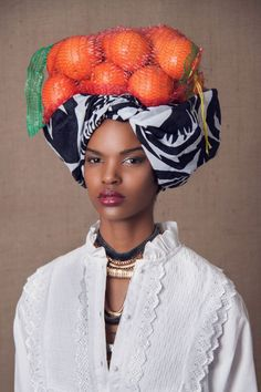 """The Head Dress"" Editorial by South African photographer Lauren Fletcher #orange"
