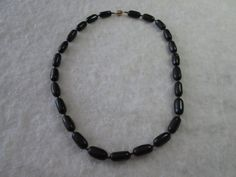 Obsidian Necklace by dreamdesigns on Etsy