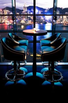 A look at the glamorous rooftop bars that crown Hong Kong's soaring   skyscrapers.