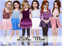 My Sims 3 Blog: Little Miss Dress Collection for Girls by Simplyca...