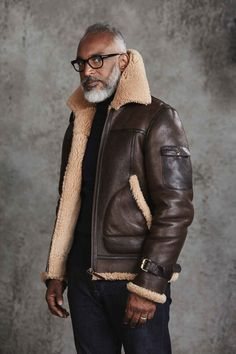 An undeniable style classic and something that could last you a lifetime - the Oliver Sweeney Althorne Tobacco Aviator Jacket - The Flight Jacket. Sheepskin Jacket, Revival Clothing, Aviator Jackets, Winter Mode, Shearling Jacket, Leather Men, Leather Jackets, Gentleman, Blazers