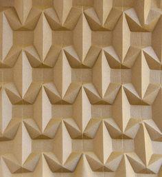 Zipper #origami #corrugation from the back. #paperfolding #ekaterinalukasheva