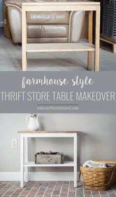 Farmhouse Style Thrift Store Table Makeover – Famous Last Words Thrift Store Furniture, Thrift Store Crafts, Recycled Furniture, Furniture Projects, Furniture Makeover, Diy Projects, Italian Bedroom Furniture, Farmhouse Furniture, Rustic Furniture