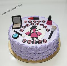 Homemade Eggless 3D/Custom Makeup and Shopping theme birthday cake for girl at Wakad, Pune