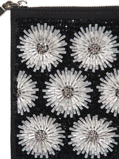 MARNI - EMBELLISHED FLOWERS ON LEATHER CLUTCH - LUISAVIAROMA - LUXURY SHOPPING WORLDWIDE SHIPPING - FLORENCE