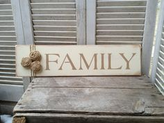 Ivory and Tan Family Sign Wooden Photo Wall by SassySouthernCharm