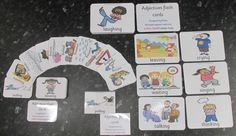 EYFS / Special Needs  Adjectives picture / words  39 flash cards 14cm x 10cm