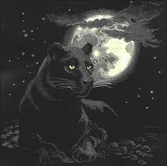 Full Moon Pantha Cross Stitch Kit from Riolis £69.95 - Past Impressions