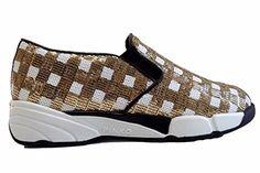 Scarpe Donna PINKO SEQUINS1H207H Y23z Sneaker tessuto ricamato Primavera  Estate 2016 Bianco oro 37 - http d4a448506f4