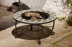 BuildDirect®: Outdoor Accessories Mosaic Fire Pits    Les Mans Mosaic Wood Burning  Fire Pit Table. #PinandWinforMom with @BuildDirect http://www.builddirect.com/promotions/mothers-day/?utm_source=pinterest&utm_medium=social&utm_campaign=MothersDayPinterest