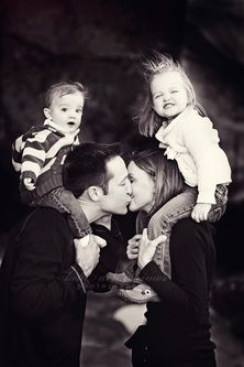 family photo shoot ideas - Google Search this would be cute if i could get my boys to do the ewwwwww face.lol