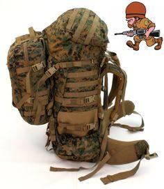 GEN 2 USMC MARPAT ILBE Main Pack, Straps, Belt, Lid, Pouch, Assault Pack- Used