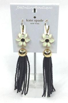 Kate Spade Earrings, Dangle Earrings, Jewelry Watches, Dangles, Fashion Jewelry, Lily, Black, Women, Trendy Fashion Jewelry