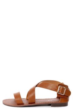 Kabo 4 Tan Strappy Flat Sandals