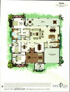 The Majestic Palm Collection Ocala Floor Plan in Solivita, Kissimmee FL