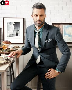 Banana Republic suit. Seriously. http://www.gq.com/style/wear-it-now/201206/interviewer-suit-boss/