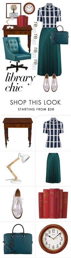 """""""LIBRARY CHIC"""" by karlamy ❤ liked on Polyvore featuring Victoria Beckham, Whistles, MM6 Maison Margiela, Burberry and Seiko"""