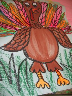 Turkey Time Thanksgiving Art Projects, Fall Art Projects, School Art Projects, School Ideas, Turkey Art, Turkey Time, Third Grade Art, Art Classroom, Classroom Ideas