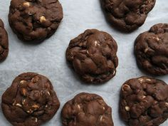 These rich, chocolate chocolate chip cookies are thick, chewy, and perfect with a cup of coffee.