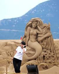 Ariel the little mermaid sand art