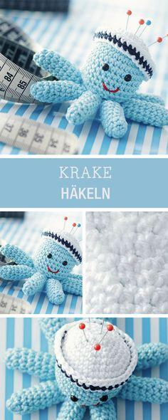 Amigurumi häkeln: Anleitung für eine süße Krake / cute amigurumi tutorial: cute octopus via DaWanda.com