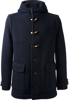 Navy Duffle Coat by Seventy. Buy for $477 from farfetch.com