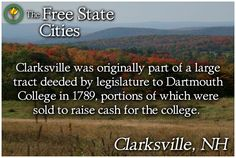 The history of each New Hampshire town is available at our site! http://freestatenh.org/encyclopedia/cities/clarksville