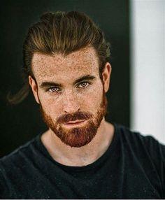 Ginger Men, Ginger Beard, Hair And Beard Styles, Long Hair Styles, Red Hair Men, Guys With Red Hair, Men With Long Hair, Redhead Men, Red Beard